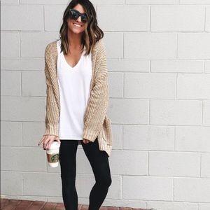 Fleece lined small black leggings like new